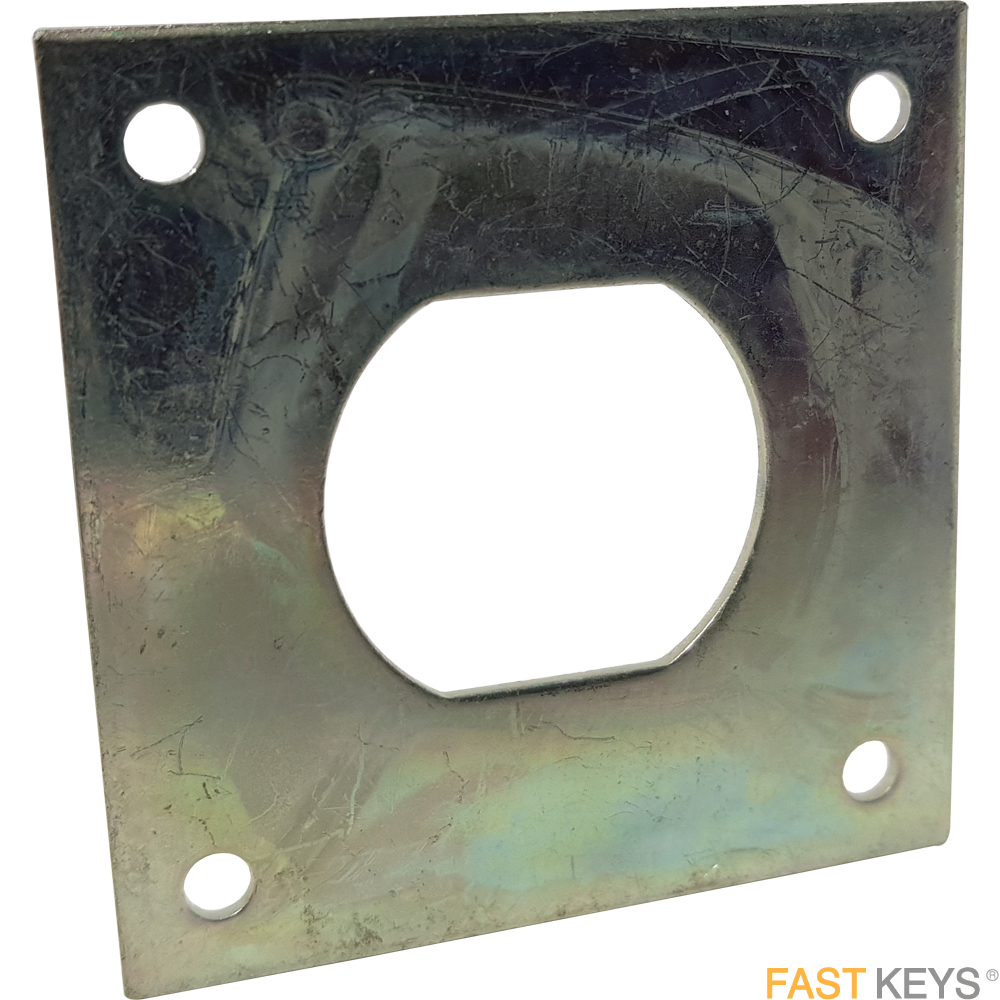 L&F Adaptor Plate for Cam Locks and Coin Return Locks Striking Plates