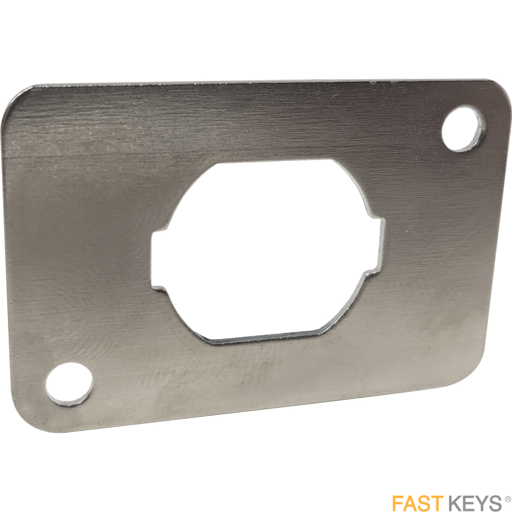 Adaptor Plate for Cam Locks and Coin Return Locks Striking Plates