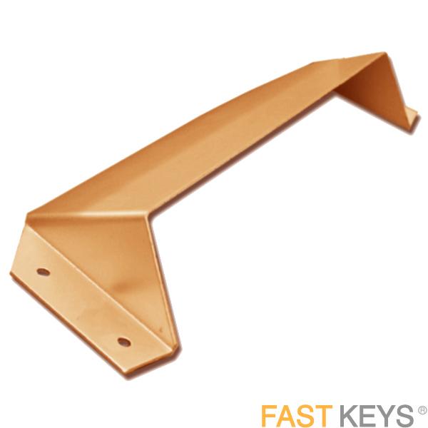 Asec 300mm (12') Letter Box Security Hood - Polished Brass Letter Box Hardware