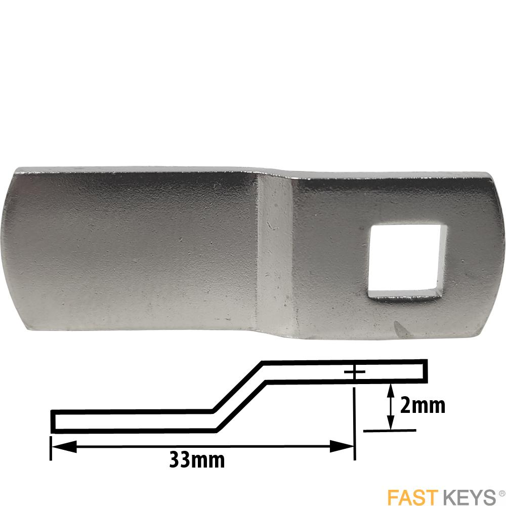 CAM101 MLM cranked cam A= 2mm B= 33mm