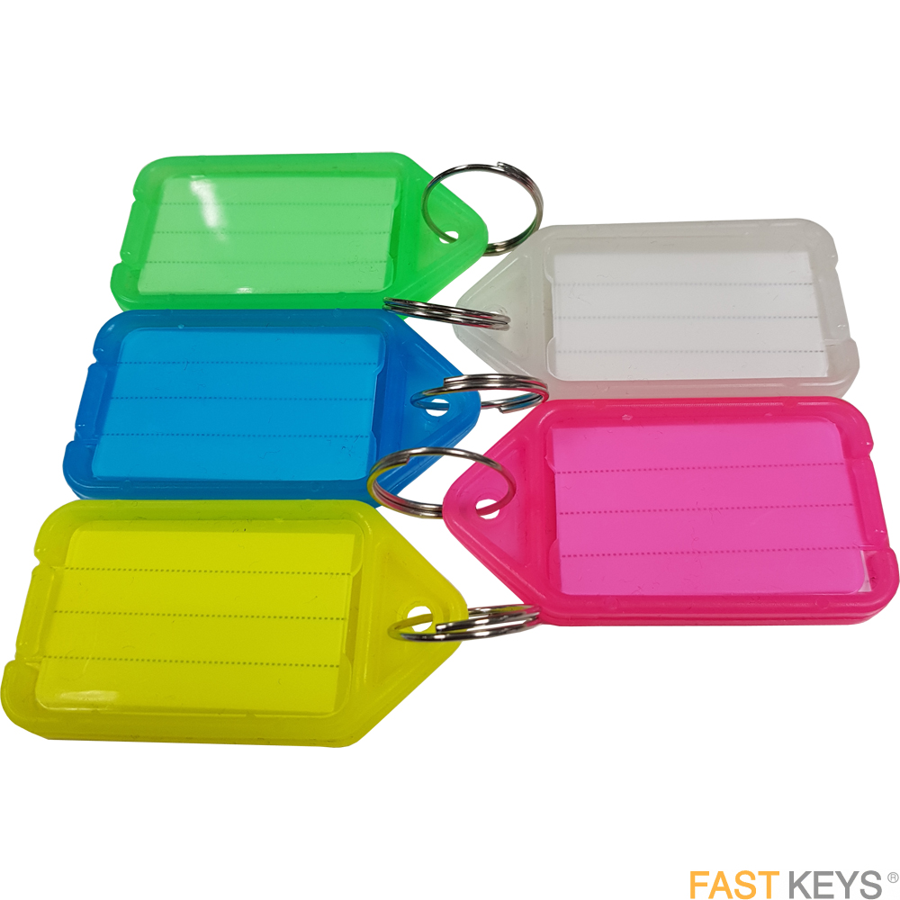 Click Tags - Assorted Colours Key Tags