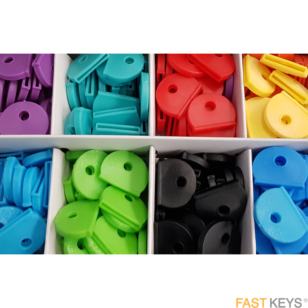 Keycap Covers available in eight colours Key Tags