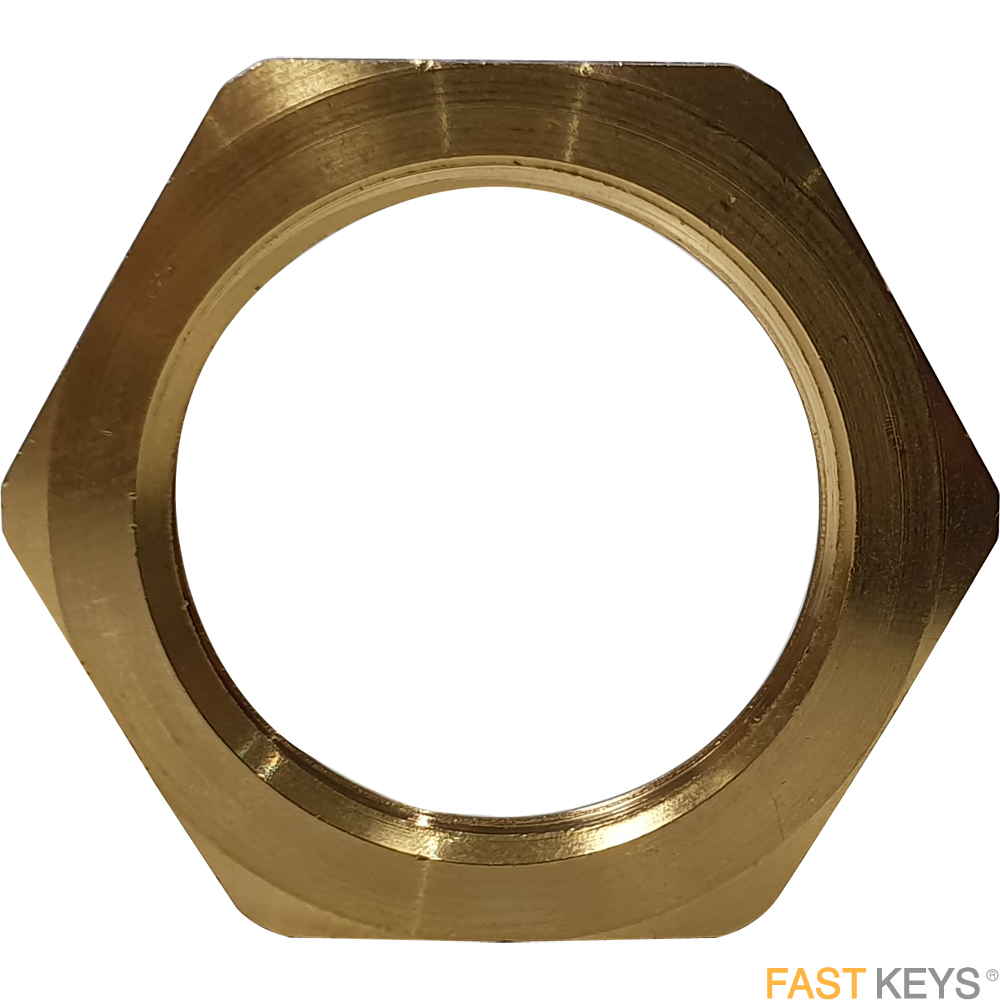 Cam lock locking nut, suitable for use with L&F 0869 locks