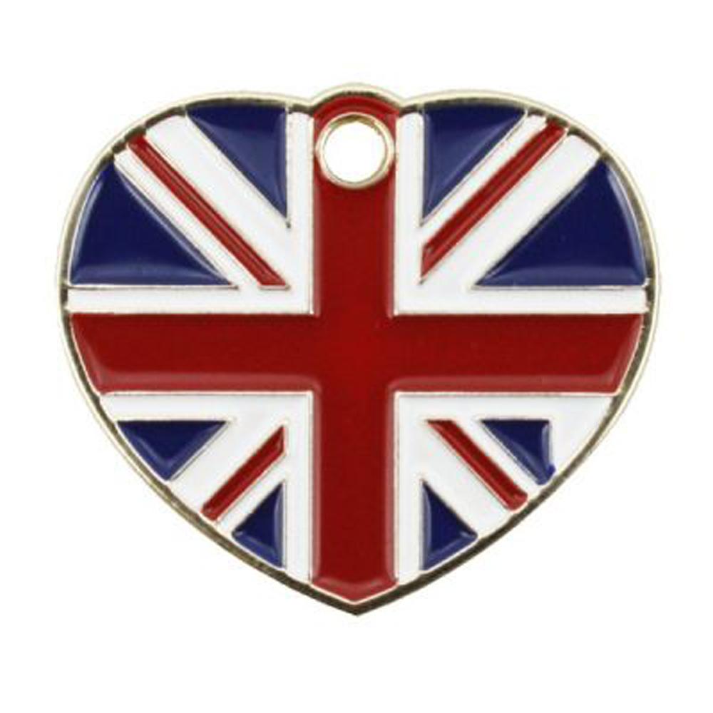 Pet Tag - Union Jack Heart Tag Dog Tags