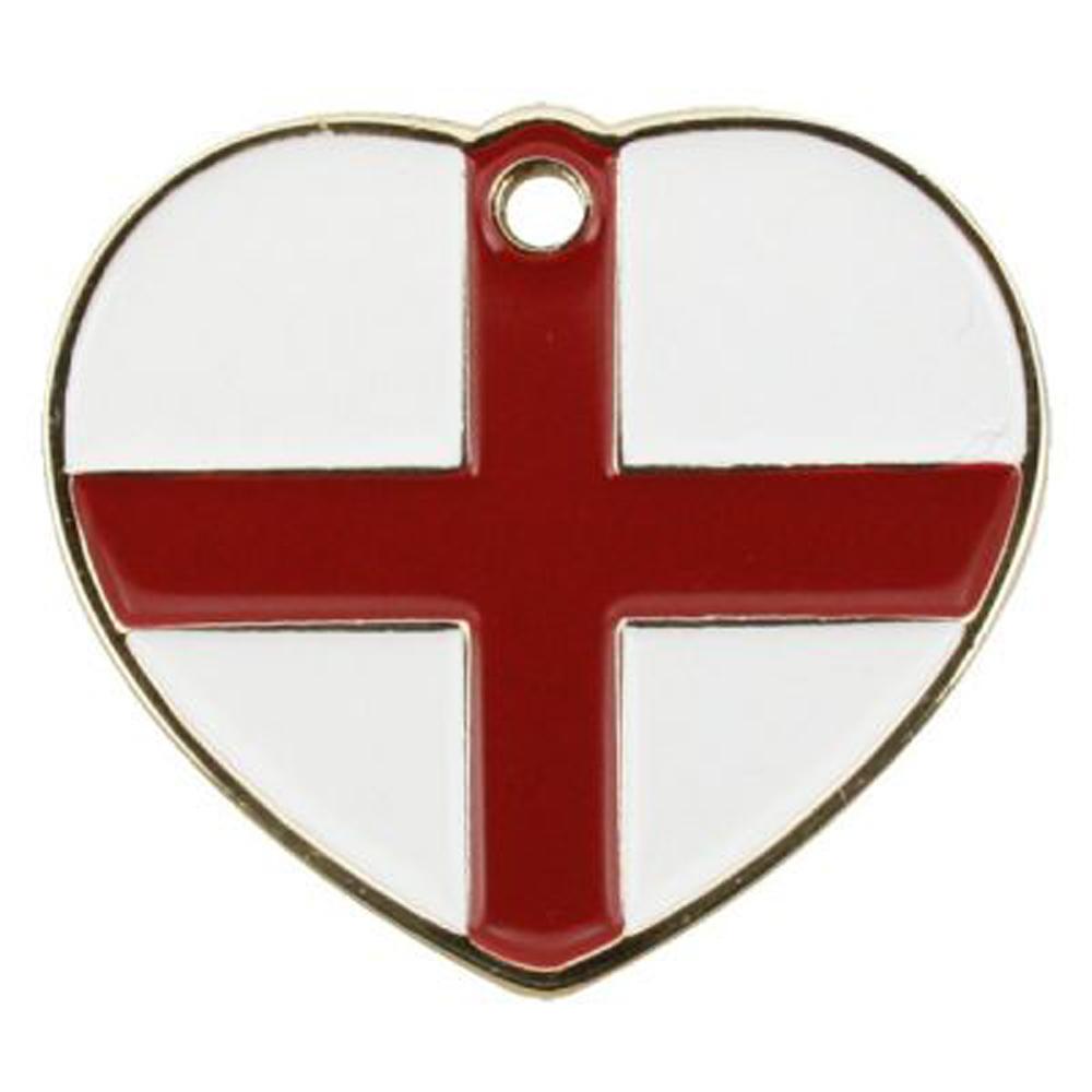 Pet Tag - England Heart Tag Dog Tags