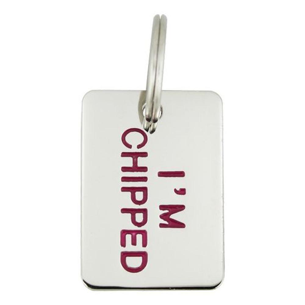 "Pet Tag - ""I'm Chipped"" Tag Dog Tags"
