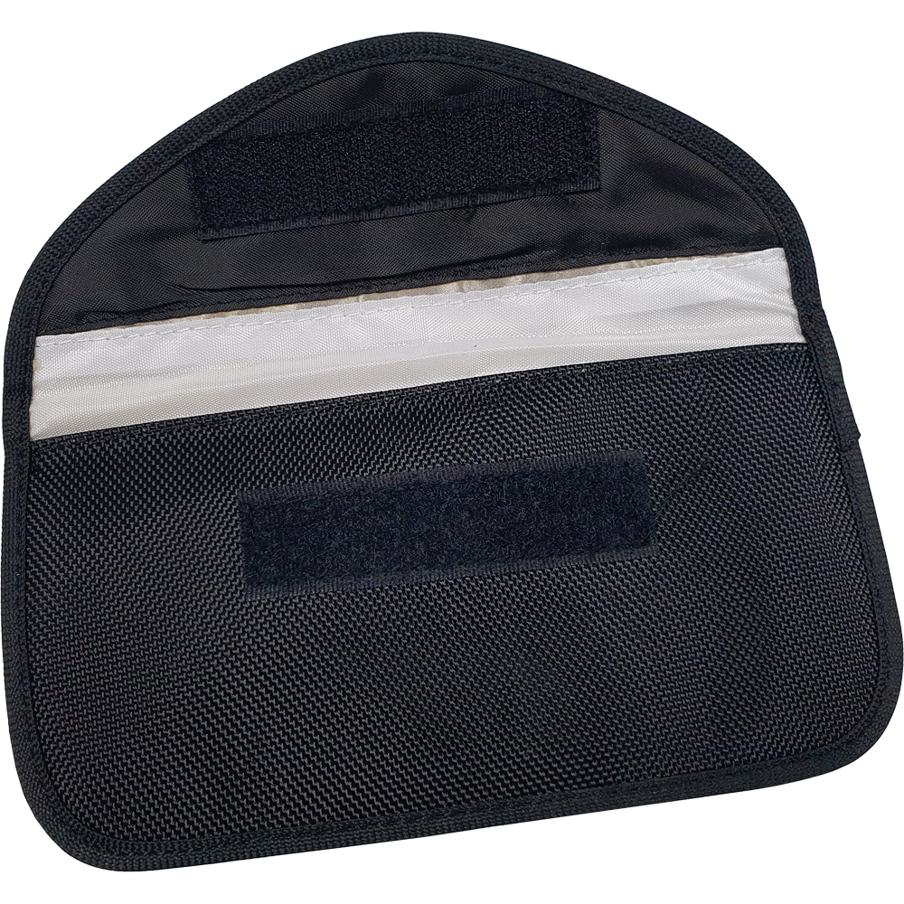 RFID Car Key Signal Blocking Pouch - Large. Pouch Dimensions - Width = 200mm, Height = 115mm. RFID Cards