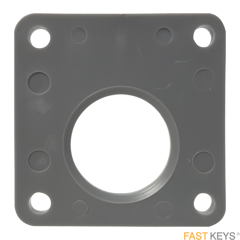 Spacer plate for rim locks with 40mm backset Striking Plates