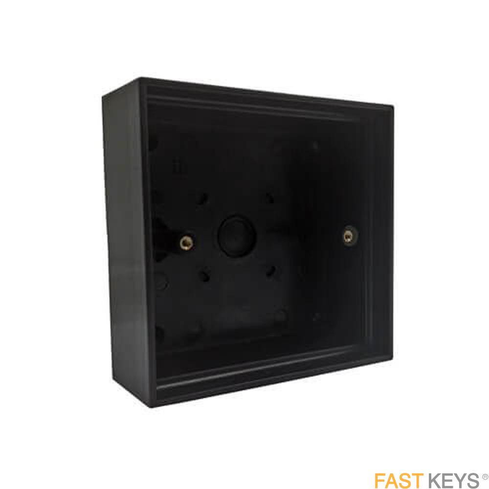 TSS BACBOXBLK - Black Plastic Back Box Access Control