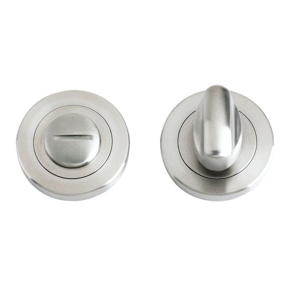 ZOO Turn and Release with Escutcheons and 5mm Spindle Bathroom Handles