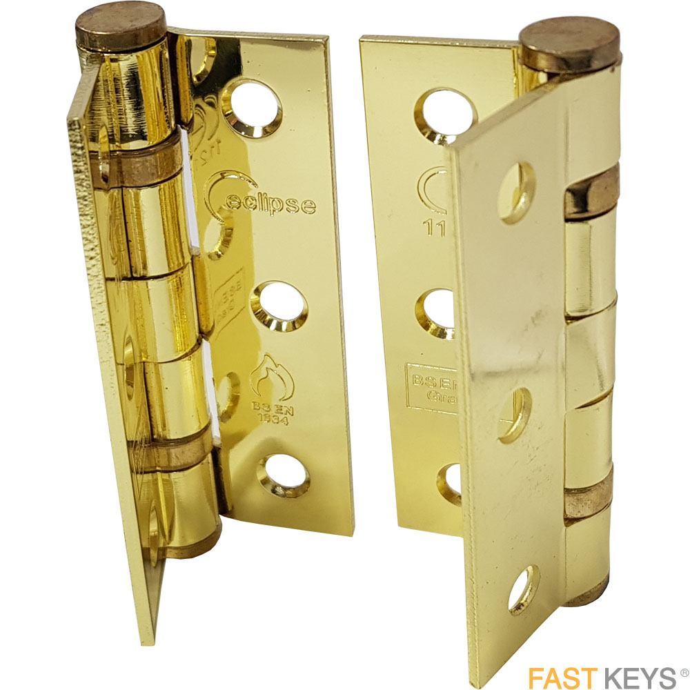ECLIPSE 14103 - 76mm Steel Ball Bearing Hinge Brass Hinges