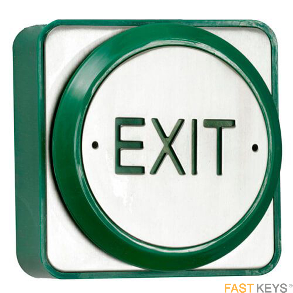 TSS EXITPADSS - Sainless steel push plate exit button - surface or flush mounted Access Control
