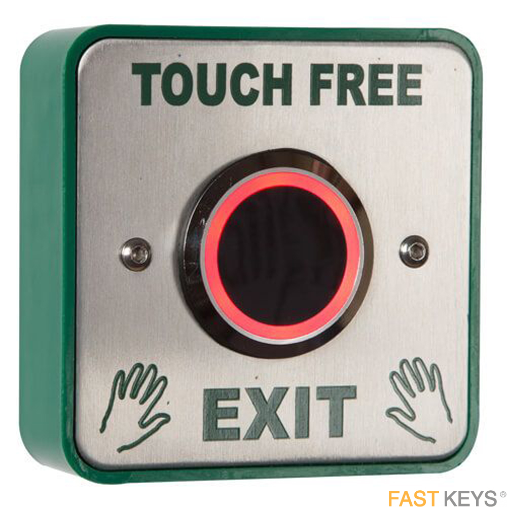 TSS EXITTOUCH - Touch free infared exit switch surface or flush mounted Access Control