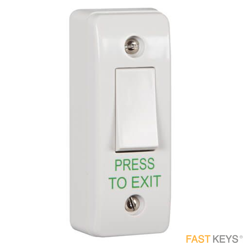 TSS EXITWHPTE - Plastic light switch style exit button