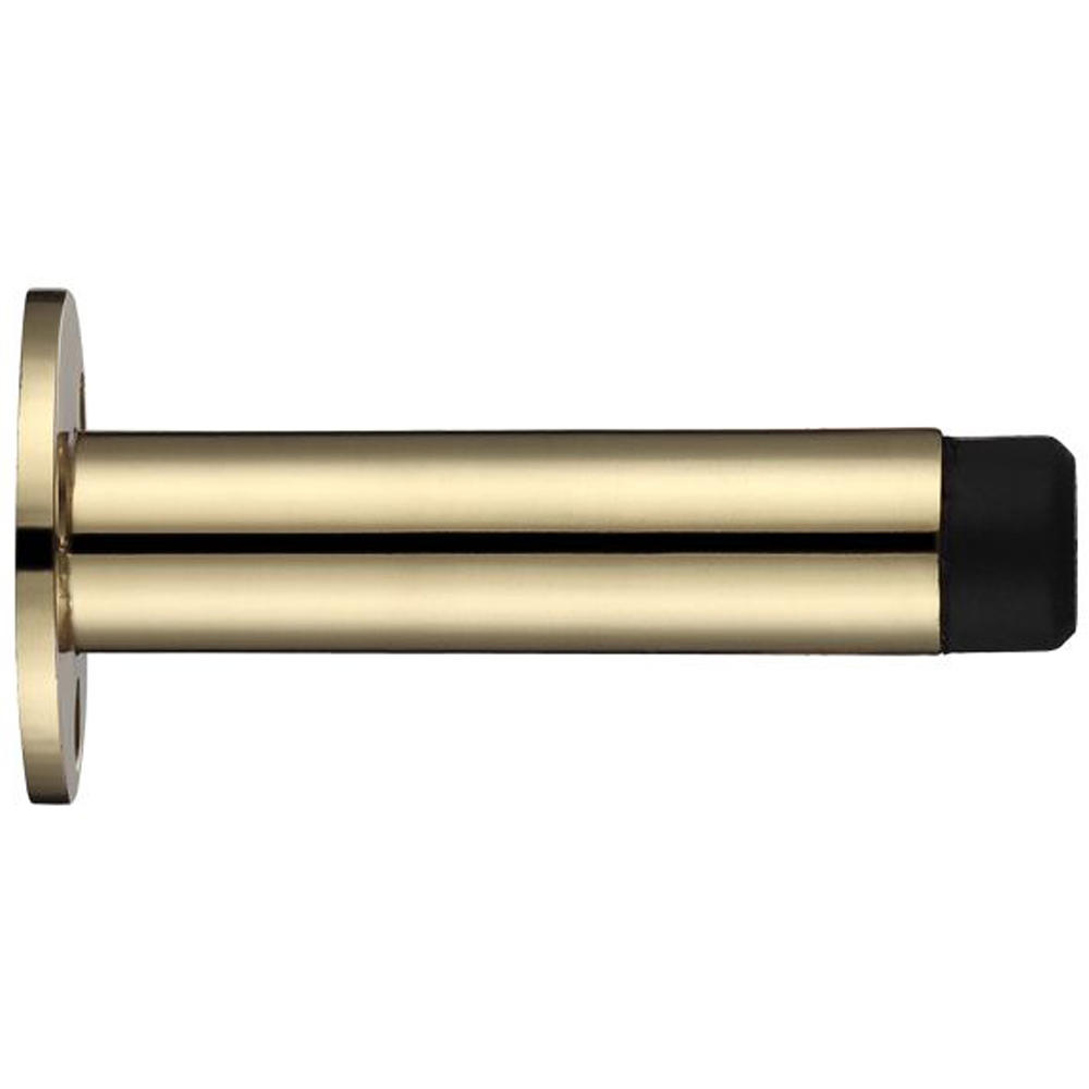 ZOO Door Stop - Cylinder With Rose 70mm - Face Fix Door Stop