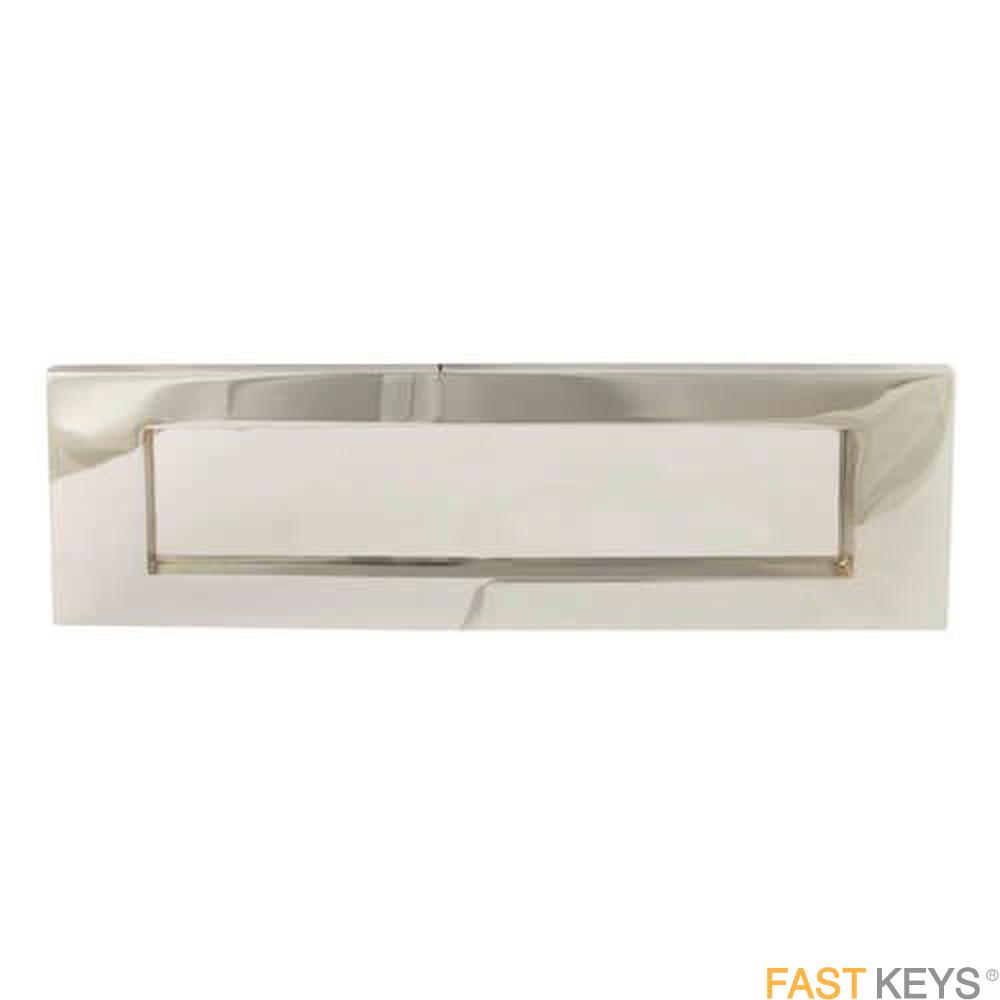 "TSSLET10X3C Victorian Sprung Letter Plate 10"" x 3"", Chrome Finish Letter Box Hardware"