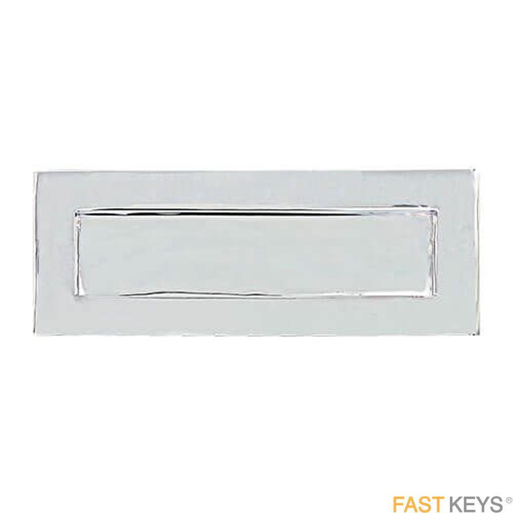 "TSSLET10X4C Victorian Sprung Letter Plate 10"" x 4"", Chrome Finish Letter Box Hardware"