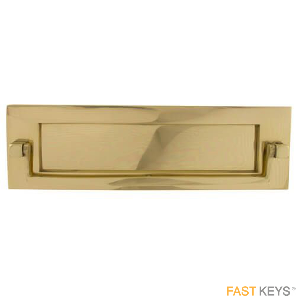 "TSSKNOCKLET10X3B Victorian Postal Knocker Letter Plate 8"" x 3"", Brass Finish Letter Box Hardware"