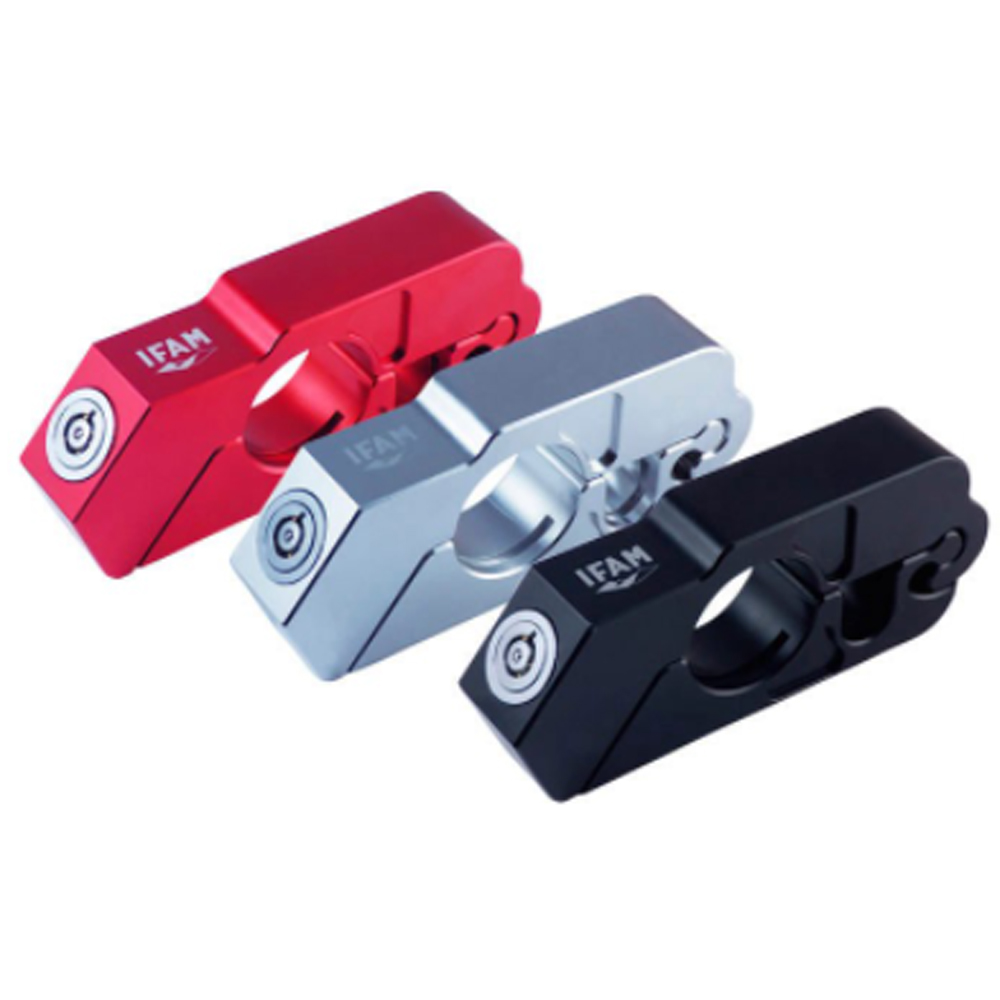 IFAM IRPM/R RPM Motorcycle Lock Red Vehicle Security