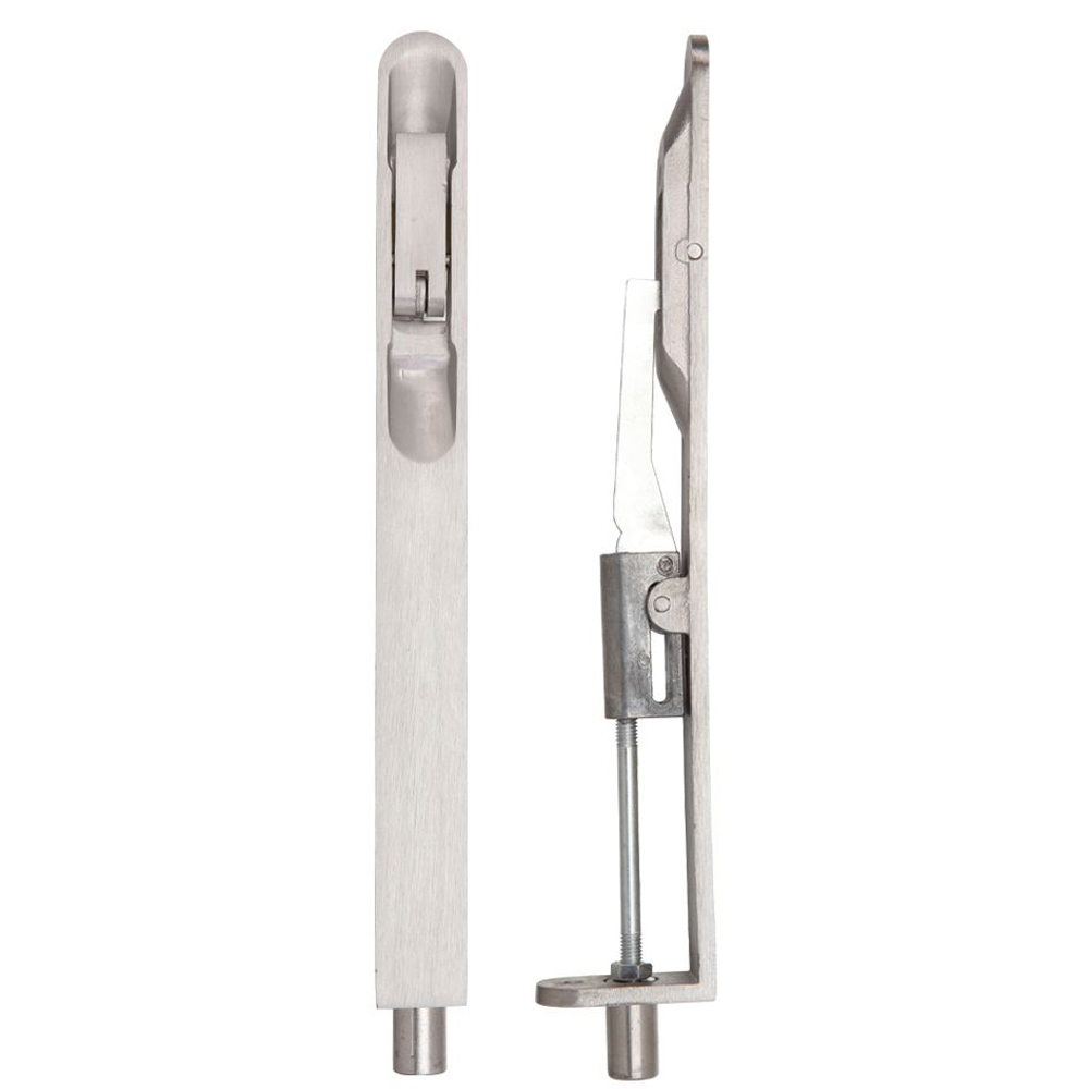 ZOO ZAS03RSS Lever Action Flush Bolt - 20 X 200mm - Radius - Satin Stainless Flush Bolts
