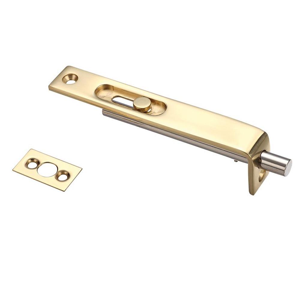 ZOO FB01 Sunk Slide Flush Bolt 17 X 100mm - Polished Brass Flush Bolts