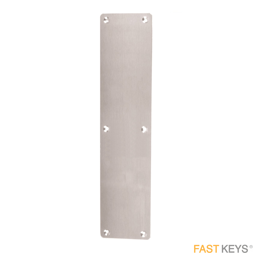 Fingerplate 350 x 75mm Drill & CS Satin Chrome Finger Plates
