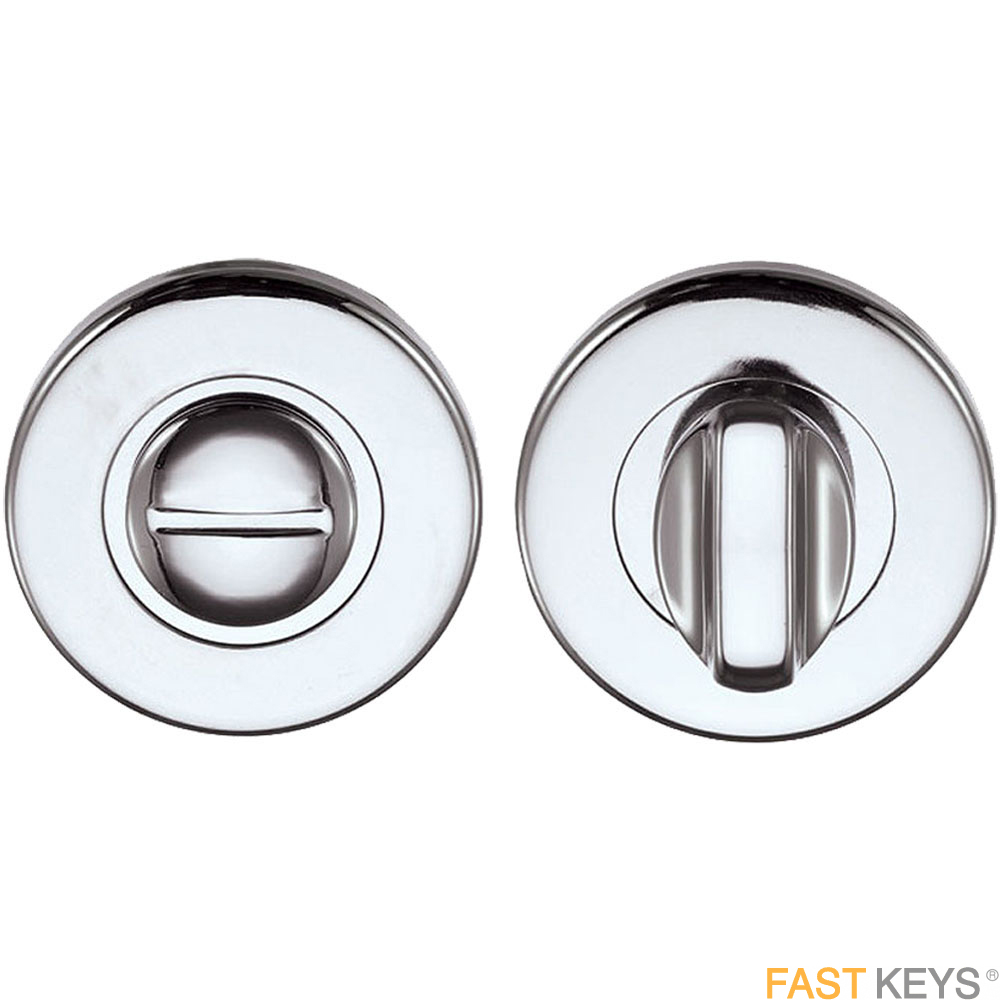 Bathroom snib and release, polished strainless steel. Bathroom Handles