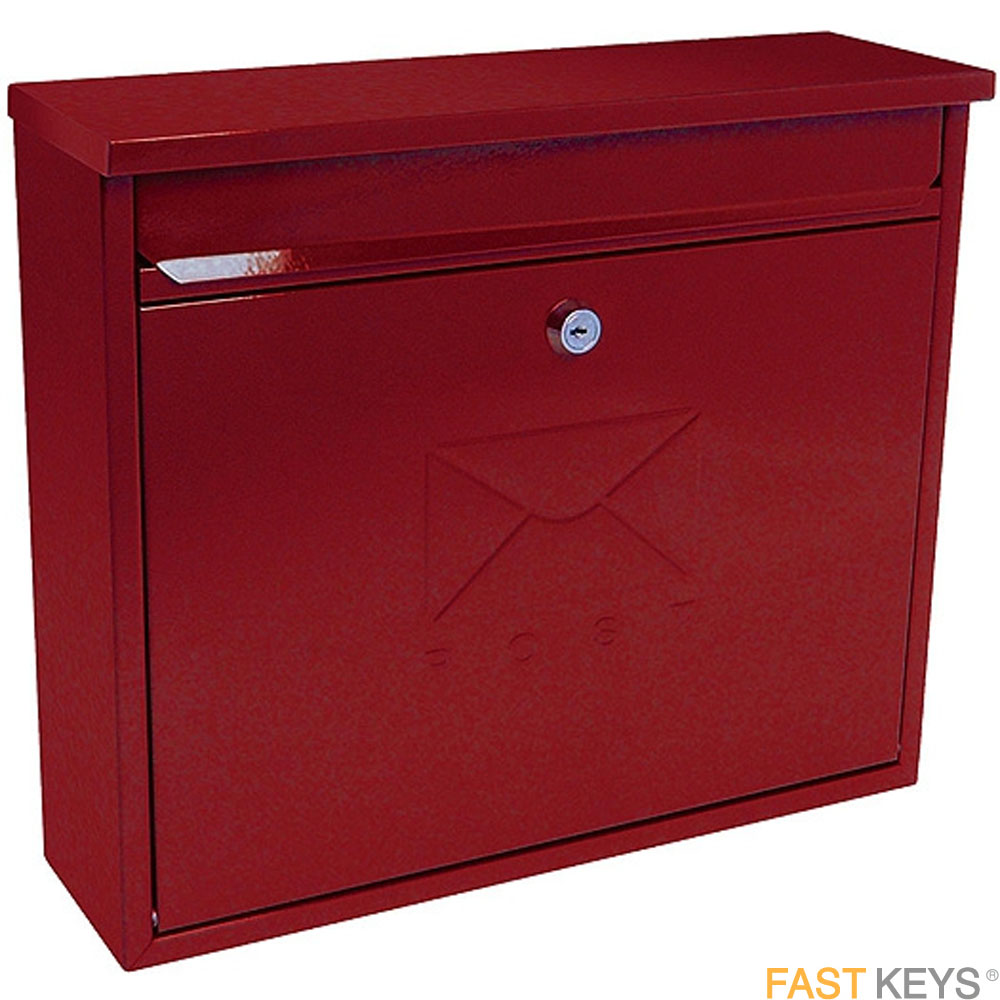 Sterling Elegance Post Box - Red Letter Box Hardware