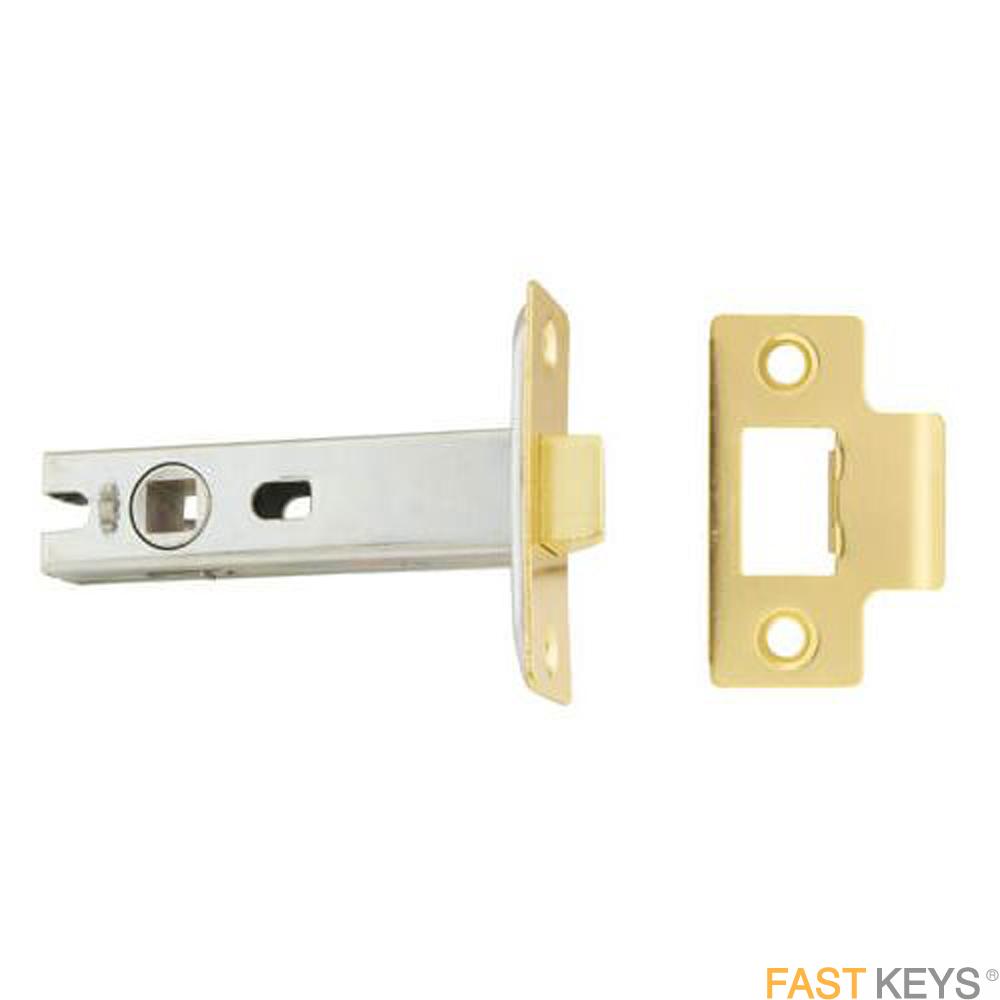 TSSTUBML3B Mortice Tubular Latch 77mm Brass Finish Door Latches