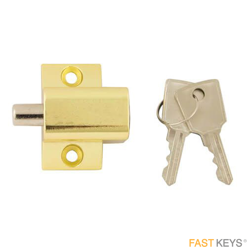 TSSPBPLOCKB Patio Door Lock - Brass Finish Patio Door Hardware