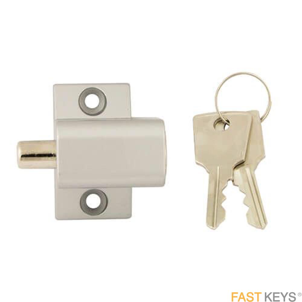 TSSPBPLOCKS Patio Door Lock - Silver Finish Patio Door Hardware