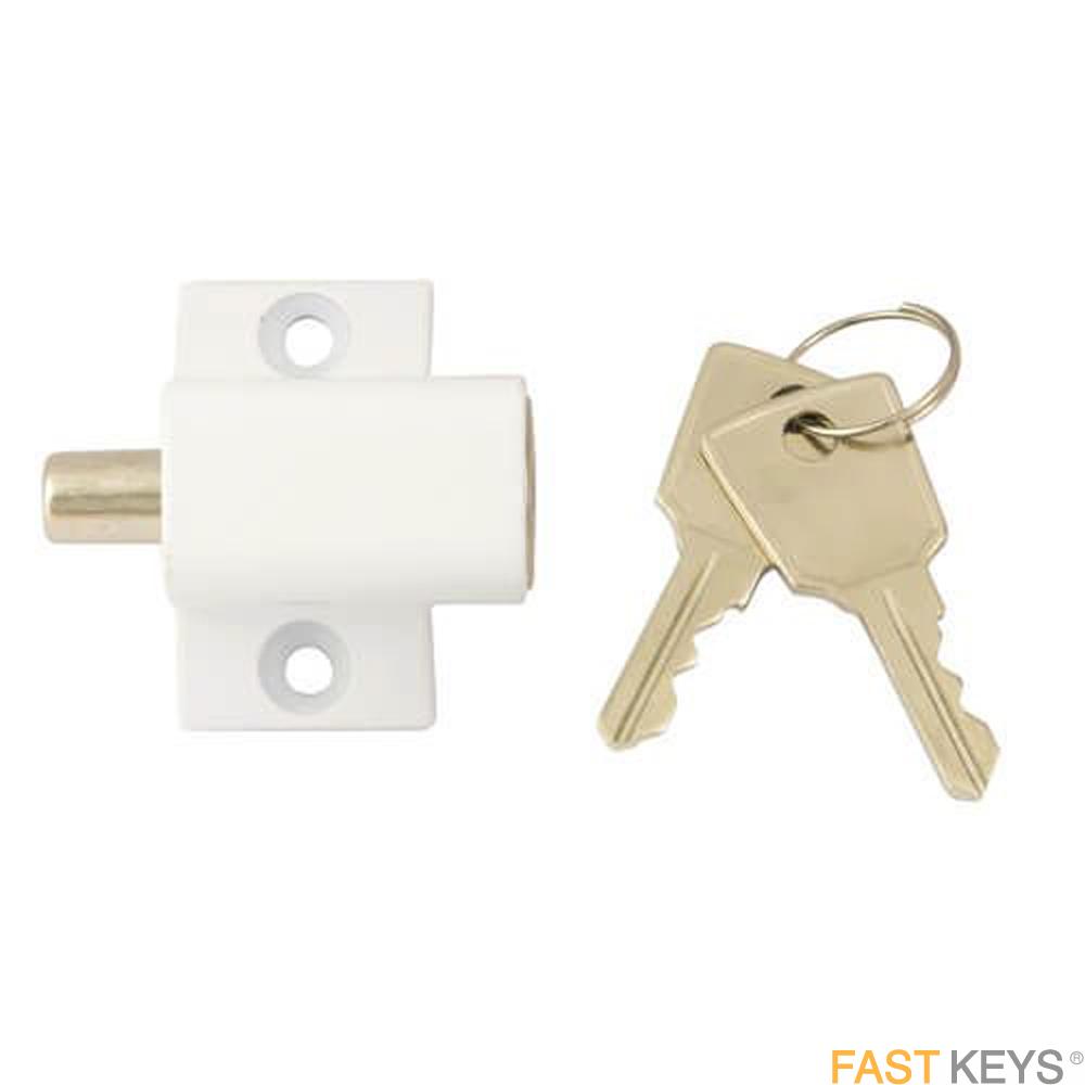 TSSPBPLOCKW Patio Door Lock - White Patio Door Hardware