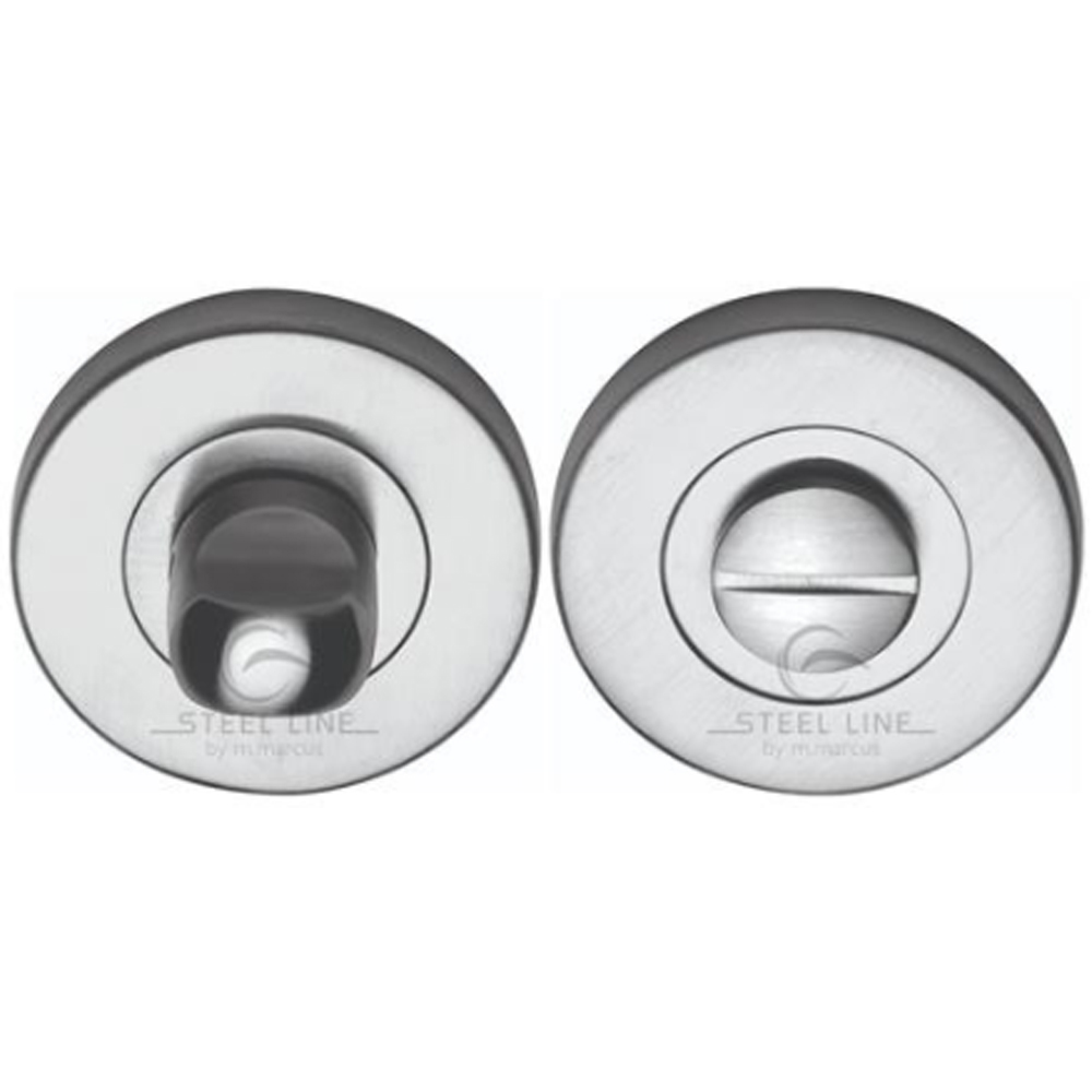 Bathroom snib and release, stainless steel finish. Bathroom Handles