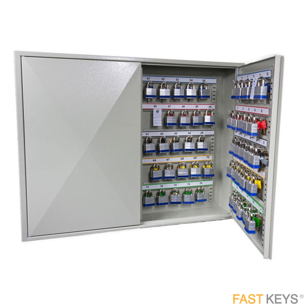 The Phoenix KC0503E, 100 Hook Key Cabinet has been designed specifically for bunches of keys.