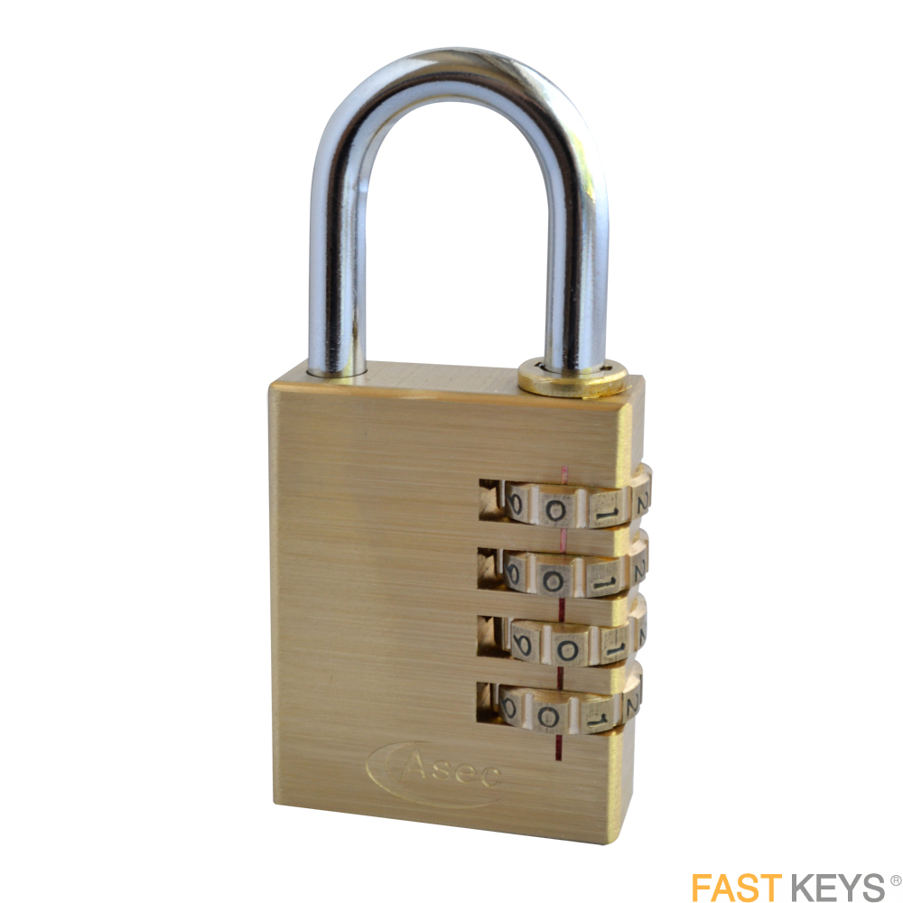 ASEC Padlocks - Combination - Standard shackle