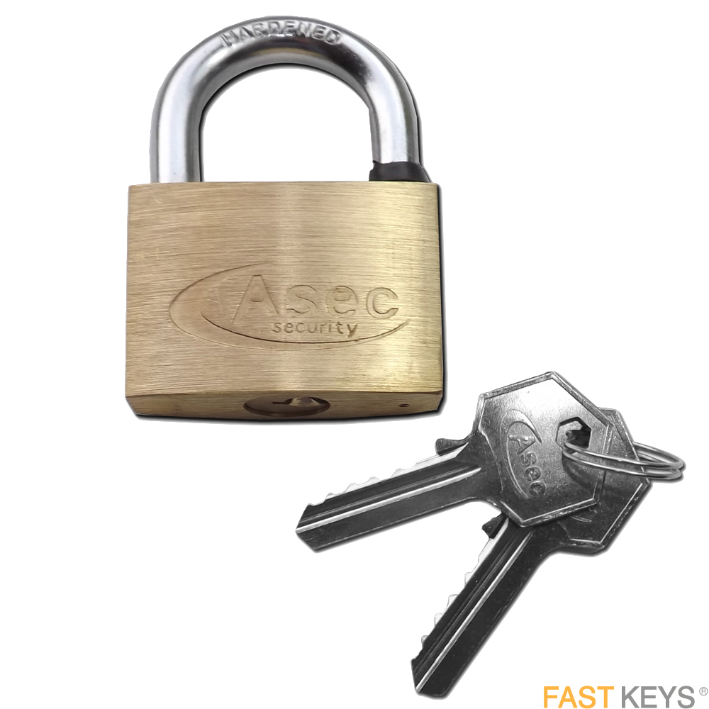 ASEC Padlocks - Keyed - Standard shackle
