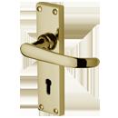 Avon Lever Lock Polished Brass Door Handle Wooden Door Handles