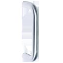 150MM bolt fix pull handle, satin stainless steel. Wooden Door Handles