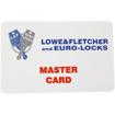Lowe & Fletcher master card for RFID digital combination lock. RFID Cards