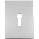 Jumbo mortice escutcheon, satin stainless steel finish. Door Pulls and Keyhole Escutcheons