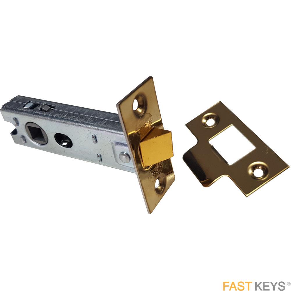 York tubular door latch, 76mm, brass finish. Door Latches